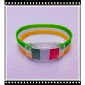 LED Motion Activated Sports Silicone Bracelets images