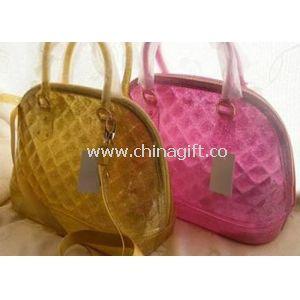 Mersh Candy Lattice PVC Shell Bag Medium Size Silk Printed Logo For Travel