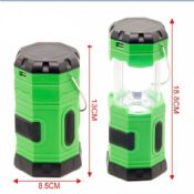 USB Mobile Charger AC and Solar Rechargeable 6LEDs camping lantern led images