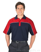 Promotional contrast polo with piping images