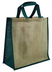 Green Jute Carry Bag images