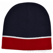 Acrylic Beanie Two Tone with Piping images