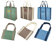 Snap Closure Shopping Tote images