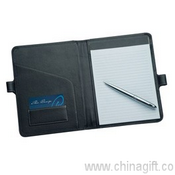 A5 Leather Pad Cover With Pen Closure images