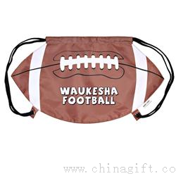 Football Drawstring Backpack Cinch Bags