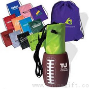 Football Sports Can Holder & Drawstring Backpack Bag Combo images