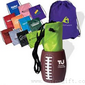 Football Sports Can Holder & Drawstring Backpack Bag Combo small picture
