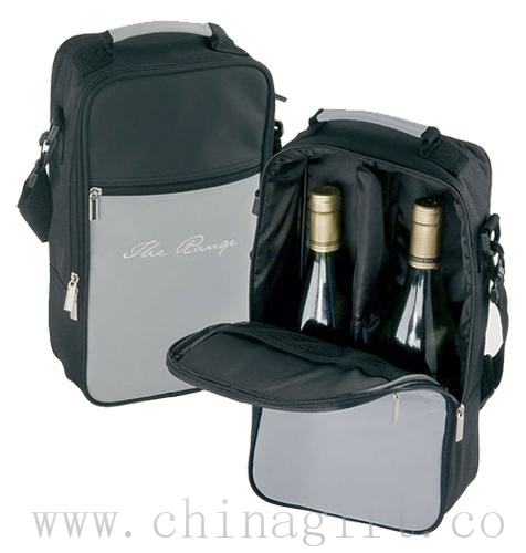 Two Bottle Cooler Bag - Grey
