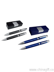 Luxury pen and pencil set in a gift box images