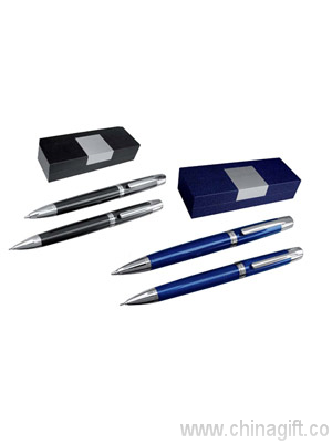 Luxury pen and pencil set in a gift box