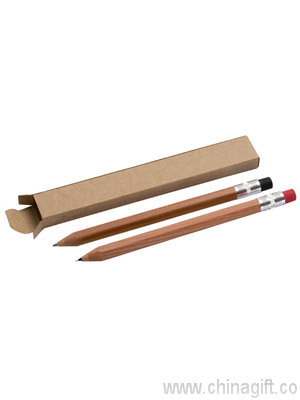 Wooden pen and pencil set