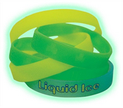 Debossed Glowing Wristbands images