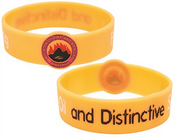 Debossed Round Front Wristband images