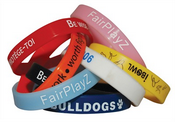 Printed Silicone Wrist Band images