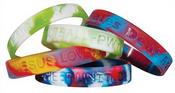 Rainbow Silicone Wristbands images