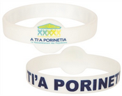 Round Front Silicone Wristband images