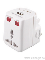 Mr Universe Travel Adaptor with USB Charger images