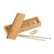 Bamboo Pencil Case Set images