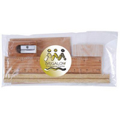Bamboo Stationery Set in Cello Bag images