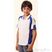 Kids Contrast Polo with Sleeve Panels images