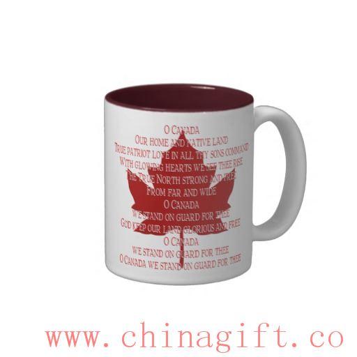 Canada Anthem Cup Souvenir Coffee Cup Canada Mug