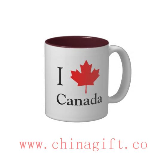 I Leaf Canada Two-Tone Coffee Mug