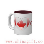 Love Canada Two-Tone Coffee Mug images
