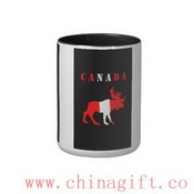moose canada Two-Tone coffee mug images