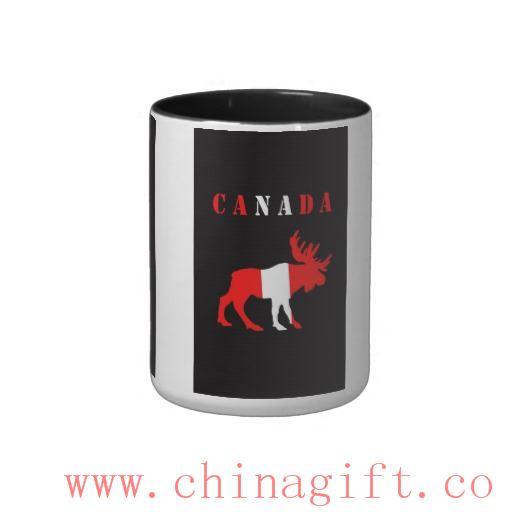 moose canada Two-Tone coffee mug