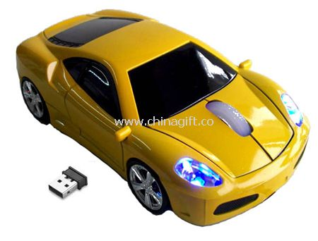 2.4G wireless car shape mouse