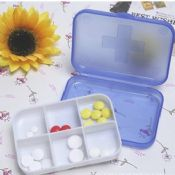 6 case plastic pill box for promotional images