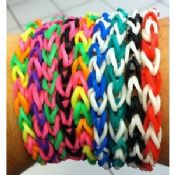Colorful Sports Silicone Bracelets Rainbow Loom Thickness 1.2mm And Dinameter 17mm images