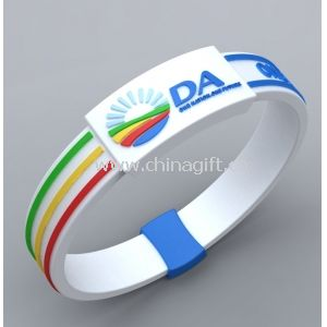 Soft PVC and OEM orders Sports Silicon Bracelets for promotion gifts