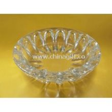 Machine made Custom Smoking pressed Clear Glass Ashtray images