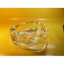 Transparent Pressed Clear Glass Ashtray images