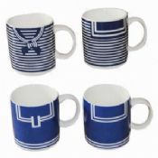 Promotional Colorful Ceramic Expresso Coffe Mugs with Cloth Design images