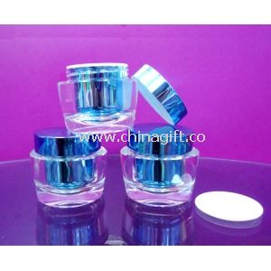 Clear Round Acrylic Jars, Small Plastic Cosmetic Containers With Lid