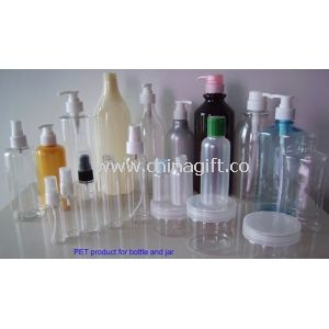 Different Capacity Transparent Empty PET Cosmetic Packaging Bottles And Jars