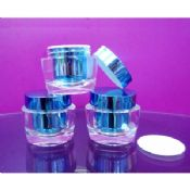 Clear Round Acrylic Jars, Small Plastic Cosmetic Containers With Lid images