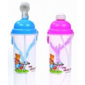 Non Toxic Lightweight Reusing Colorful Kids Plastic Water Bottles images
