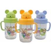 Portable Eco Friendly Sport Kids Plastic Water Bottles With Cup Holders images