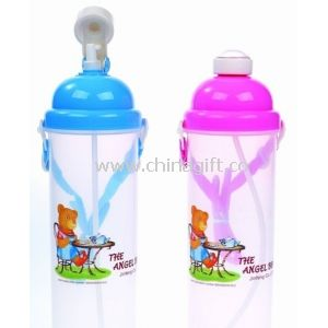 Non Toxic Lightweight Reusing Colorful Kids Plastic Water Bottles
