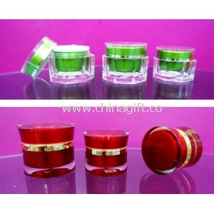 White Airless Eco Friendly PP / PE Small Plastic Cosmetic Containers / Jars