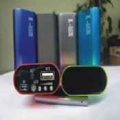 5200mah Aluminum power bank with cash check lamp images