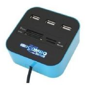 USB Card Reader with 3-Port USB HUB and Special Light Logo images