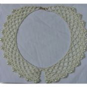Various White Hand knit retiary pearl bead collar for women images