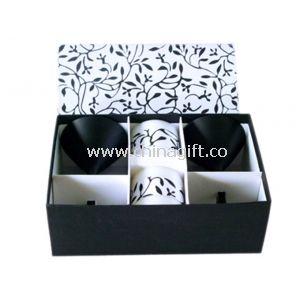 Black/White candle set
