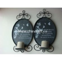 Metal Iron Hanging Wall Mountable Candle Holders images