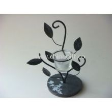 Silver Rustic Iron Decorative Candle Holders images
