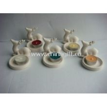 White Handmade Ceramic Decorative Candle Holders images